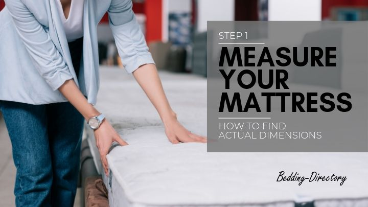 photo showing How to find mattress dimensions