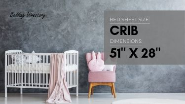 photo showing the dimensions of crib size bed sheets