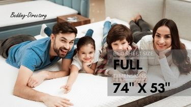 a picture of the dimensions of full size bed sheets