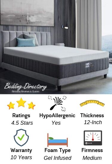 Infographic of the BedStory Mattress in a box