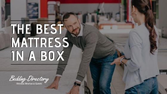 Lady shopping for the best mattress in a box