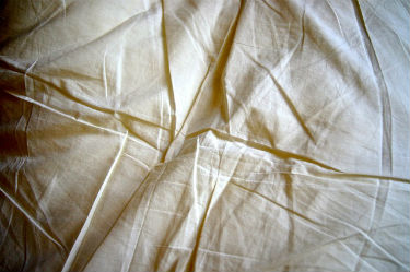 picture of bamboo sheets with wrinkles