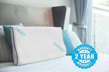 Plixio Memory Foam Contour Pillow for Sleep Apnea
