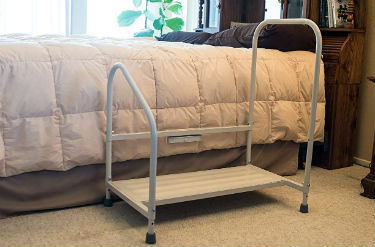 Actual Image of the Step2Bed Bed Hand Rail Adjustable Height Bed Step Stool with LED Light