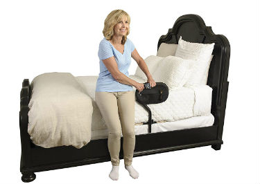 Close up of Stander BedCane Adult Home Bed Safety Rail