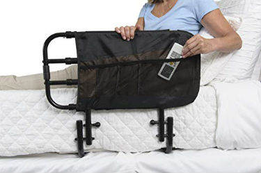 Close up of Stander EZ Adjust Bed Rail for Elderly Adults