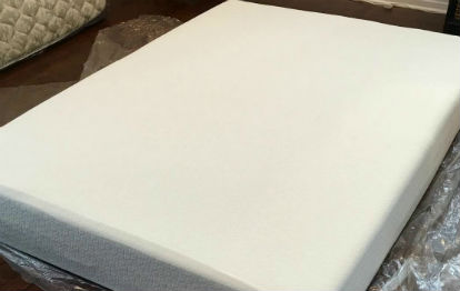opening a new Zinus Memory Foam Green Tea Mattress