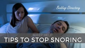Simple Tips and Advice to Stop Snoring