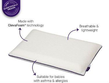 Baby Memory Foam Pillow by Clevamamma