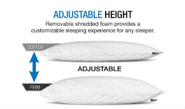 Dream Rite Shredded Foam Pillow for Combination Sleeper