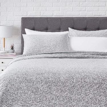 AmazonBasics Super-Soft Cotton Duvet Comforter Cover Set