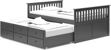 Broyhill Kids Island Full Captain's Bed with Trundle