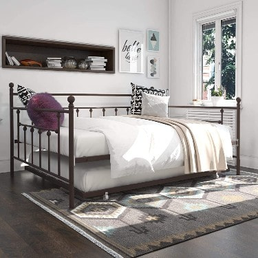 DHP Manila Queen Metal Full Size Trundle