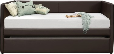 Homelegance Adra Leather Upholstered Daybed with Trundle
