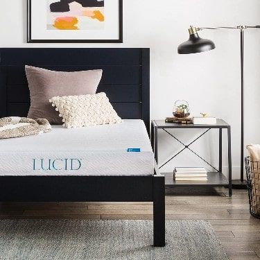 LUCID 6 Inch Memory Foam Mattress - Dual-Layered