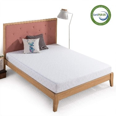 Zinus 6 Inch Gel-Infused Green Tea Memory Foam Mattress