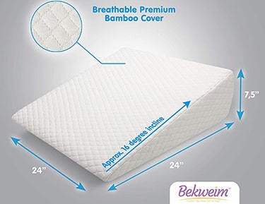 Bekweim curved orthopedic bed wedge pillow